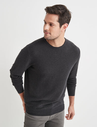 Mason Cotton Fashion Crew Neck - Black