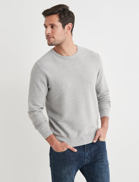 Mason Cotton Fashion Crew Neck - Platinum