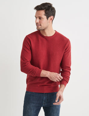 Mason Cotton Fashion Crew Neck - Red