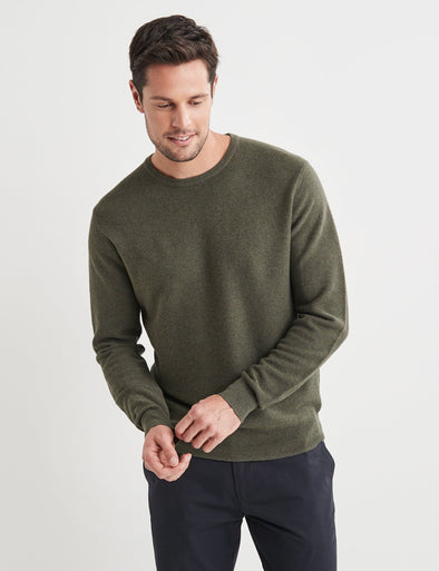 Mason Cotton Fashion Crew Neck Dark Green