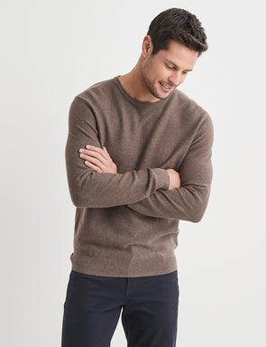 Mason Cotton Fashion Crew Neck - Brown