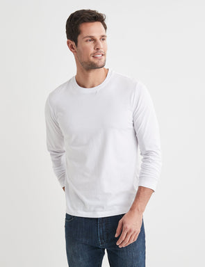 Long Sleeve Classic Tee - White