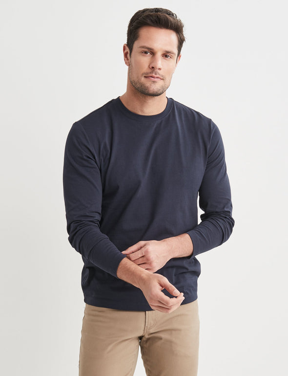 Long Sleeve Classic Tee - Navy
