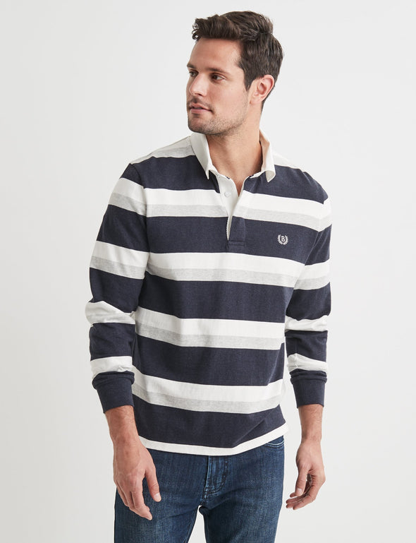 Garrett Stripe Rugby Top - Multi