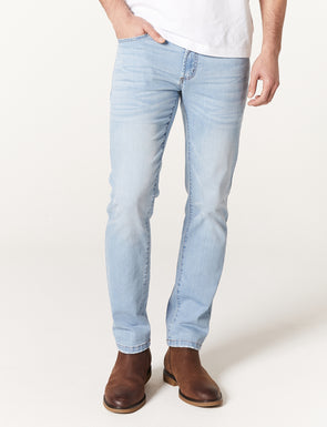 Anton Light Wash Stretch Jean - Faded Blue