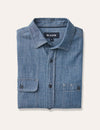 Ben Long Sleeve Denim Double Pocket Shirt - Indigo