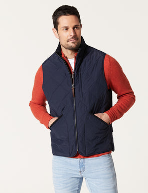 York Quilted Vest - Navy