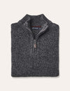 Oscar Half Zip Knit - Charcoal