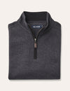 Heather Half Zip Sweat - Charcoal