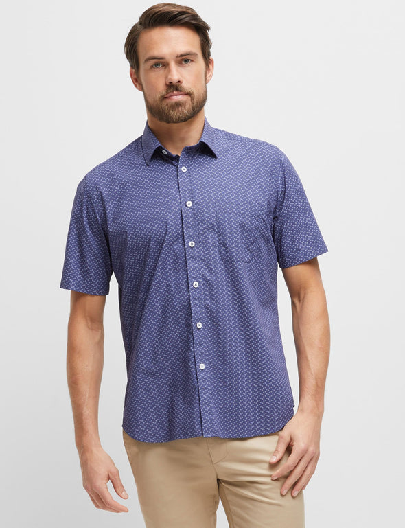 Ashley Short Sleeve Printed Shirt