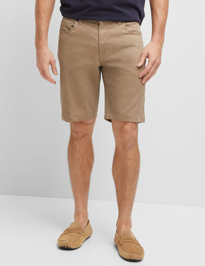 Stretch Rib Jean Short - Khaki