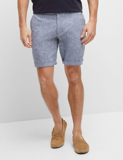 Julian Linen Cotton Short - Navy