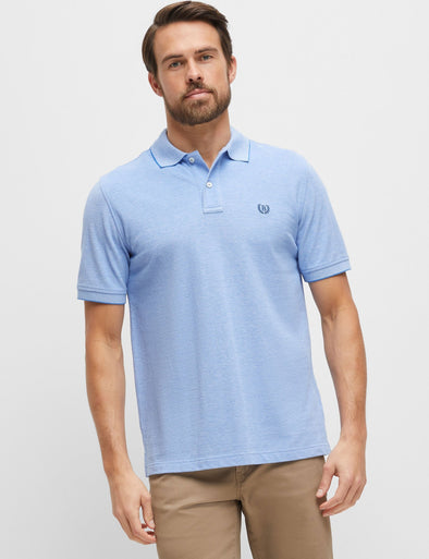 Oxford Pique Polo - Blue