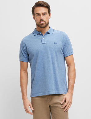 Oxford Pique Polo - Denim Blue
