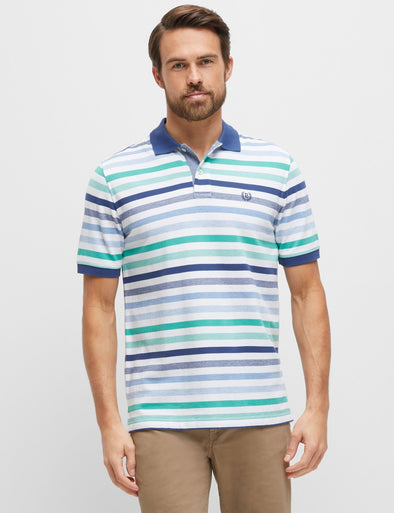 Eli Green Multi Stripe Polo