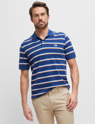 Connor Stripe Pique Polo - Multi