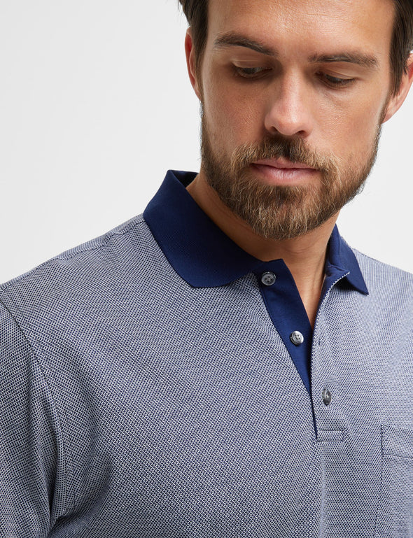Camden Mercerised Polo - Navy
