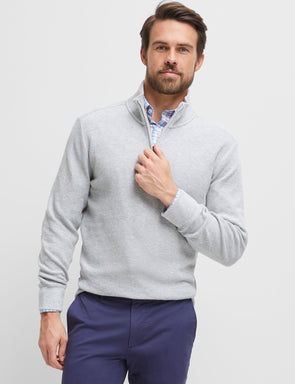 Russell Textured Knit - Light Grey