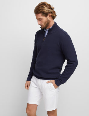 Russell 1/2 Zip Knit - Navy