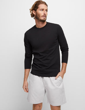 Long Sleeve Classic Tee - Black