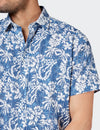 Logan S/S Print Shirt - Blue Multi