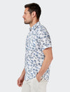 Isaac Short Sleeve Print Shirt - White Multi