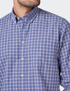 Riley Long Sleeve Check Shirt - Faded Blue