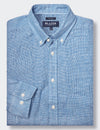 Alexander L/S Lin Check Shirt - Blue