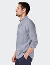 Reggie Long Sleeve Check Shirt - Navy