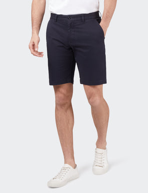 Stretch Twill Shorts - Dark Navy