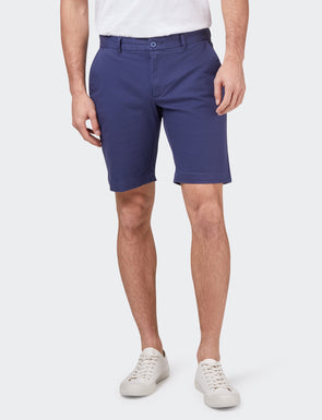 Stretch Twill Shorts - Faded Blue