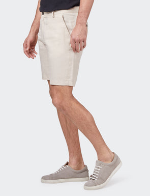 Alex Pure Linen Short - Sand