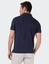 Carter Textured S/S Polo - Navy