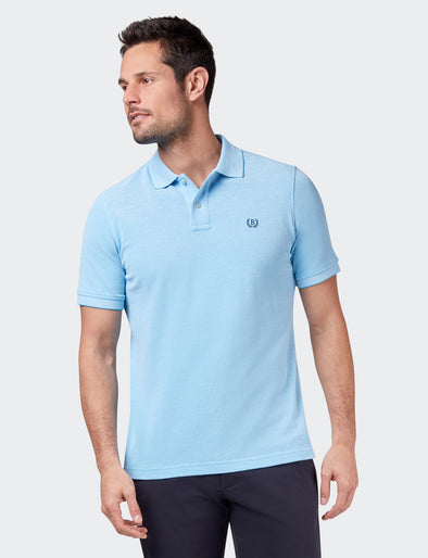 Liam Oxford Polo - Aqua