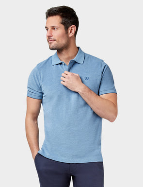 Liam Oxford Polo - Denim Blue
