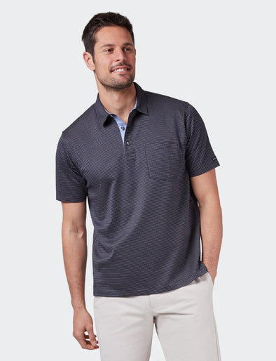 Jamie Mercerised Polo - Dark Navy