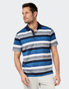 Jackson Mercerised Polo - Blue Multi
