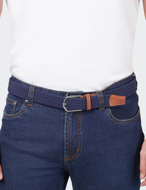 Woven Stretch Belt - Navy