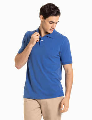 Classic Cotton Pique Polo - Blue