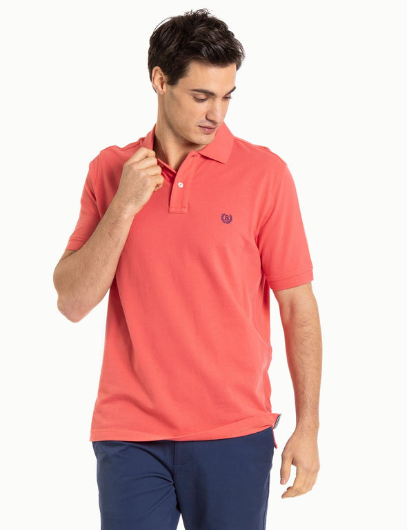 Classic Cotton Pique Polo - Bright Coral