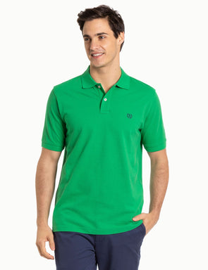 Classic Cotton Pique Polo - Bright Green