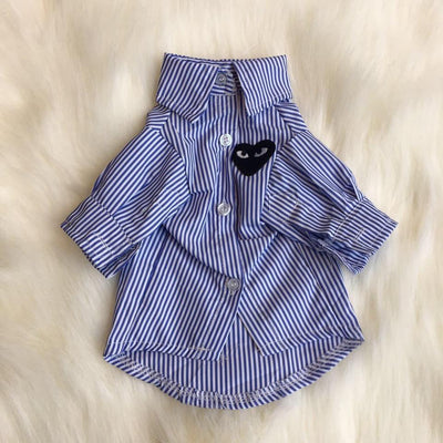 CDG Pup Collar Hipster Button up Shirt