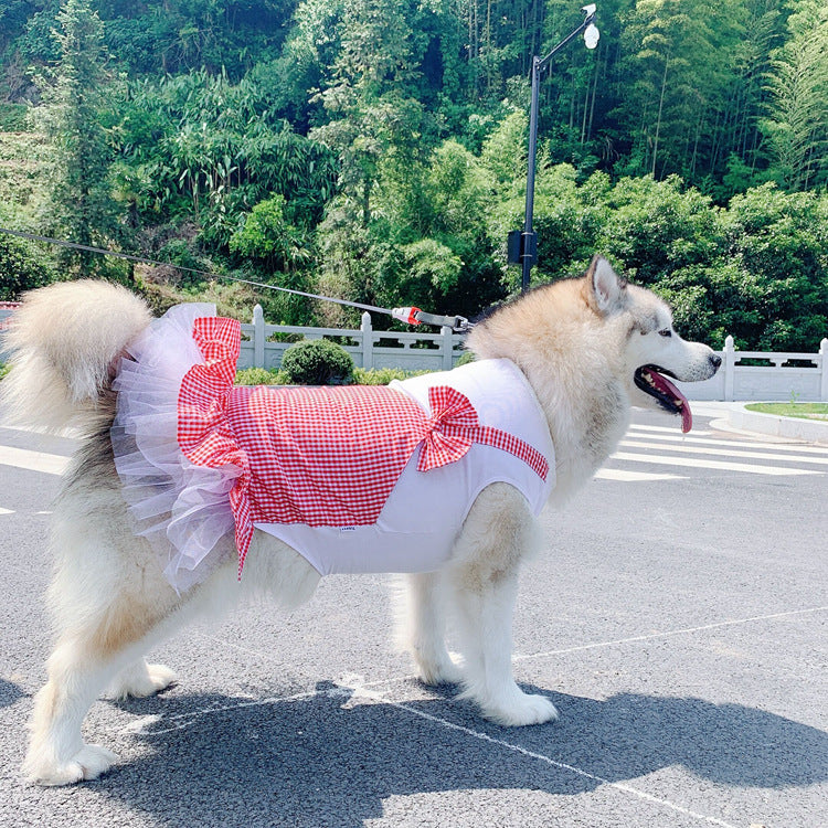 Big Doggo Plaid Tutu Princess Skirt