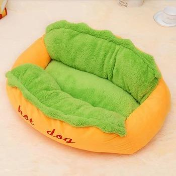 Luxury Soft Hot Dog Bed For Small Dogs