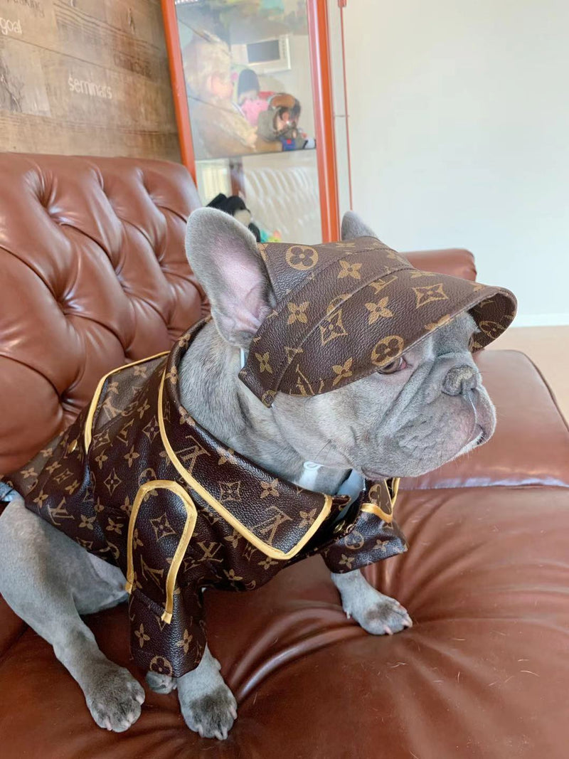 LV Brown Dog Leather Jacket