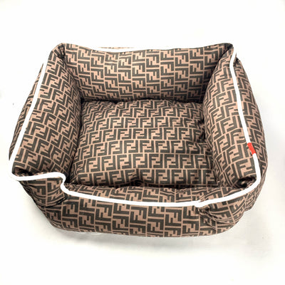 Furberry Printed Bow Knot Dog Bed