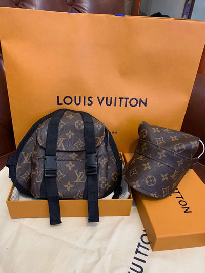 LV PU Leather Backpack