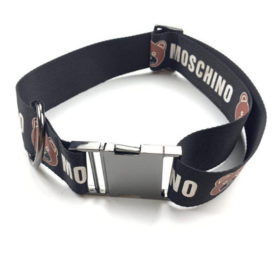 MoschinoPup Super Lux Spring Collar Leash & Harness Set
