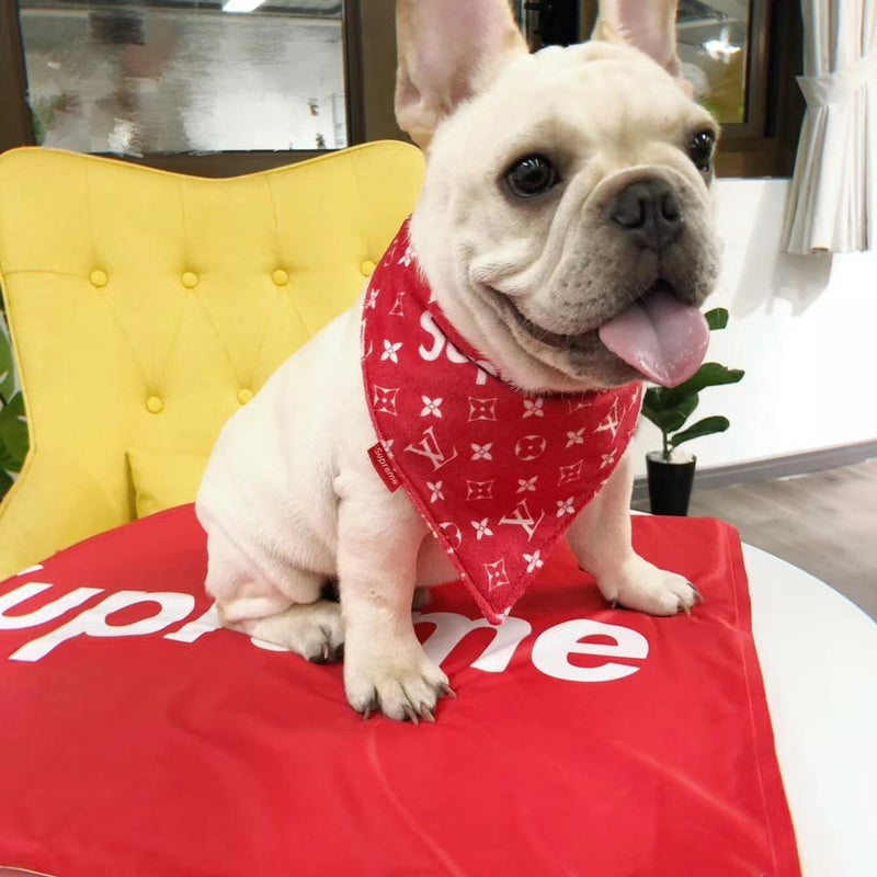 Supreme LV Red Puppy Bandana (HOT ITEM)