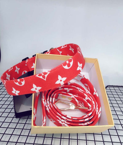 LV Pup & Paw Bow Tie Collar & Leash Set [New Edition!]